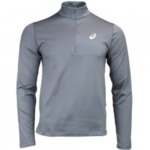Bluza do biegania LS 1/2 Zip Winter Top Asics  2011A013/020 szary